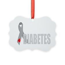 Cure-Diabetes-Ribbon-BLK Ornament