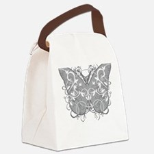 Diabetes-Butterfly-blk Canvas Lunch Bag