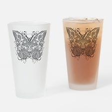 Diabetes-Butterfly-blk Drinking Glass