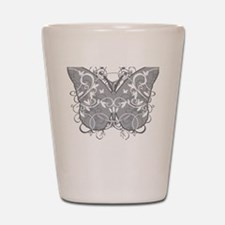 Diabetes-Butterfly-blk Shot Glass