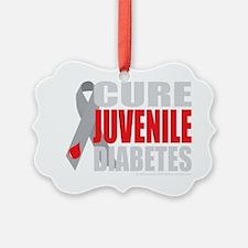 Cure-Juvenile-Diabetes-2-blk Ornament