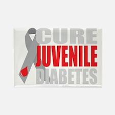 Cure-Juvenile-Diabetes-2-blk Rectangle Magnet