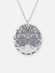 Diabetes-Butterfly-blk Necklace