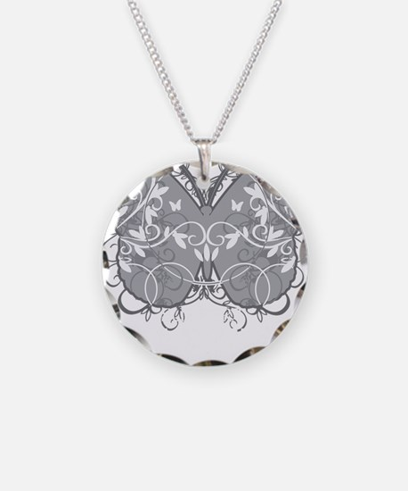Diabetes-Butterfly-blk Necklace