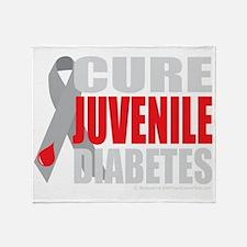 Cure-Juvenile-Diabetes-2-blk Throw Blanket
