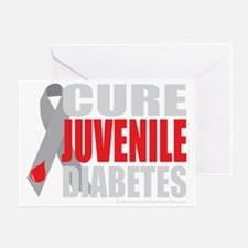 Cure-Juvenile-Diabetes-2-blk Greeting Card