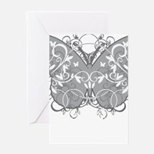 Diabetes-Butterfly-blk Greeting Card