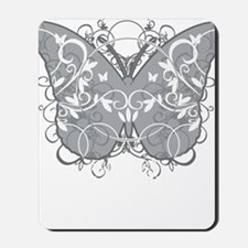 Diabetes-Butterfly-blk Mousepad