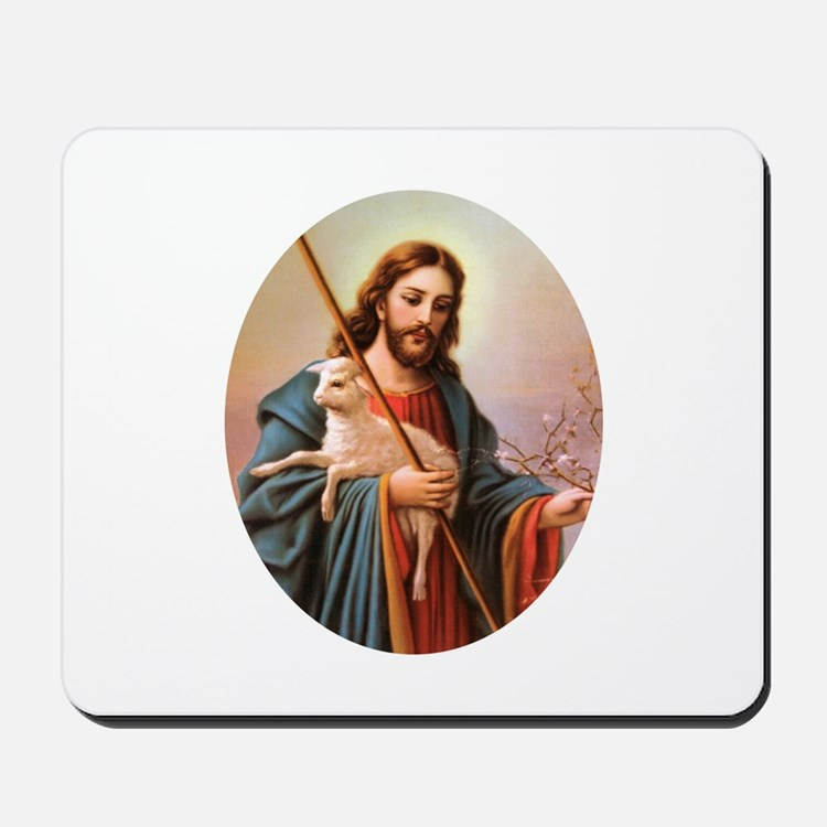 Jesus - Shepherd with Lamb Mousepad