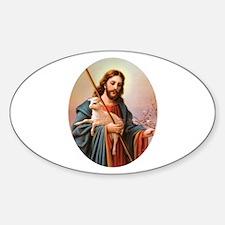 Jesus - Shepherd with Lamb Oval Decal