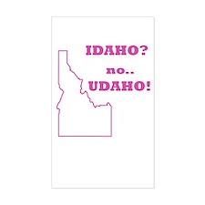 Idaho? no, Udaho! Rectangle Bumper Stickers