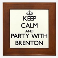 Keep Calm and Party with Brenton Framed Tile
