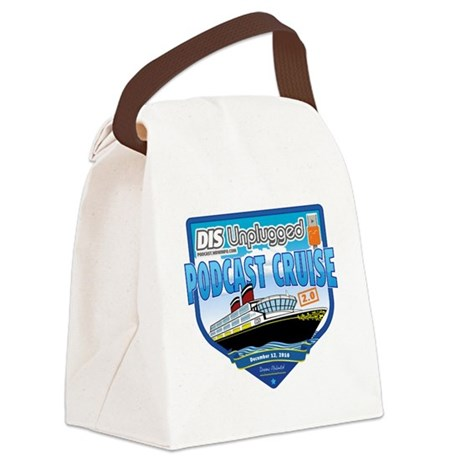 DIS Unplugged Podcast 2.0 Logo Canvas Lunch Bag