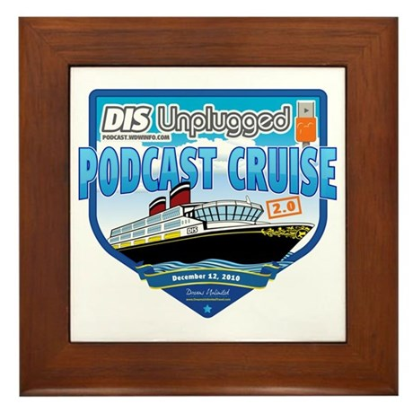 DIS Unplugged Podcast 2.0 Logo Framed Tile