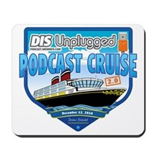 DIS Unplugged Podcast 2.0 Logo Mousepad