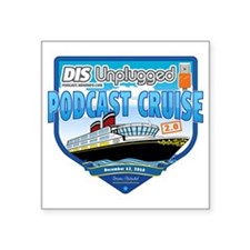 "DIS Unplugged Podcast 2.0 L Square Sticker 3"" x 3"""
