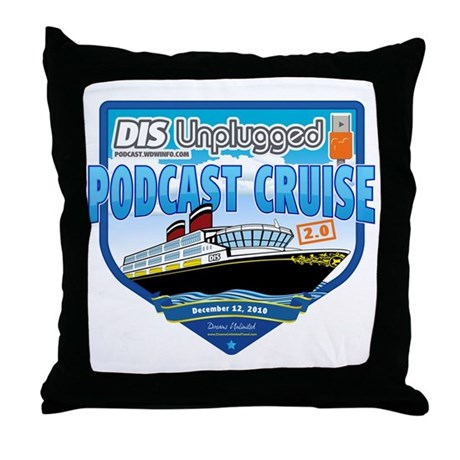 DIS Unplugged Podcast 2.0 Logo Throw Pillow