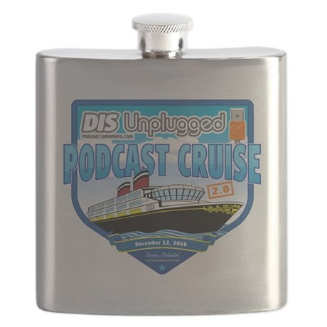 DIS Unplugged Podcast 2.0 Logo Flask