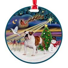 Xmas Magic (R) - English Bulldog 5 Ornament