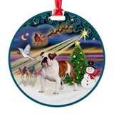English bulldog art Ornaments