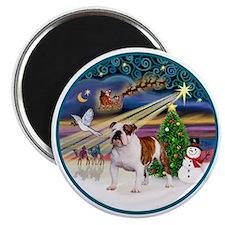 Xmas Magic (R) - English Bulldog 5 Magnet