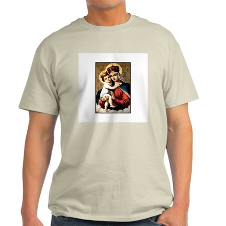 Mary - Madonna and Child Ash Grey T-Shirt