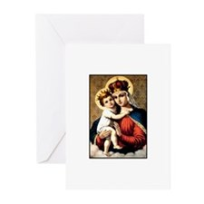 Mary - Madonna and Child Greeting Cards (Package o
