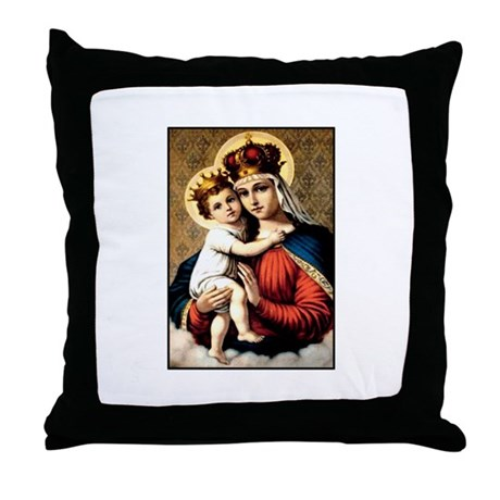 Mary - Madonna and Child Throw Pillow