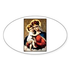 Mary - Madonna and Child Oval Decal