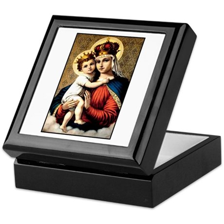 Mary - Madonna and Child Keepsake Box