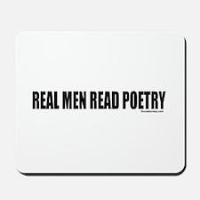 REAL MEN READ POETRY Mousepad