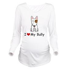 I-Love-My-Bully-dog Long Sleeve Maternity T-Shirt