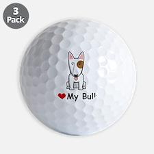 I-Love-My-Bully-dog Golf Ball