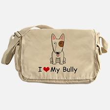 I-Love-My-Bully-dog Messenger Bag