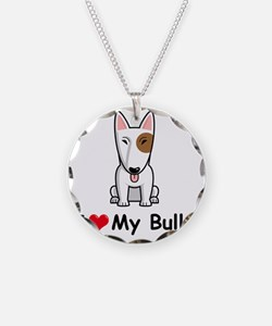 I-Love-My-Bully-dog Necklace Circle Charm
