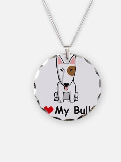 I-Love-My-Bully-dog Necklace Circle Charm