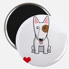 I-Love-My-Bully-dog-dark Magnet