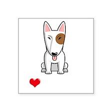 "I-Love-My-Bully-dog-dark Square Sticker 3"" x 3"""