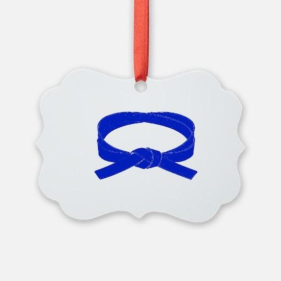 2-blueBelt Ornament