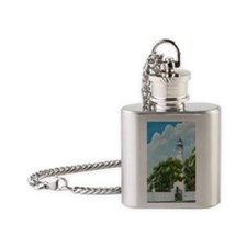 Key West Light tall Flask Necklace