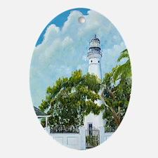 Key West Light tall Oval Ornament