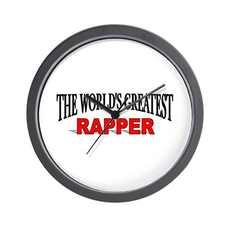 """The World's Greatest Rapper"" Wall Clock"