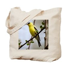 2-American Goldfinch cropped Tote Bag