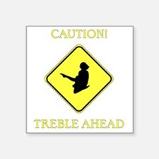 "Irish Dance Caution Square Sticker 3"" x 3"""
