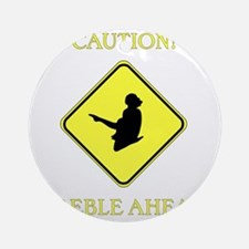 Irish Dance Caution Round Ornament