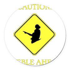 Irish Dance Caution Round Car Magnet