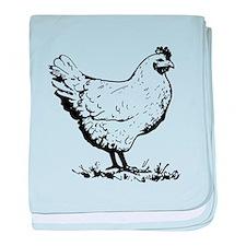 Chicken Sketch baby blanket