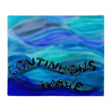 continuous wave BMP Throw Blanket