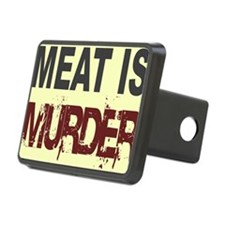 Meat Is Murder-yellow squa Hitch Cover