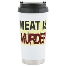 Meat Is Murder-yellow square Travel Mug